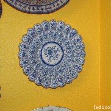Antigüedades: ** PRECIOSO PLATO DE CERÁMICA RUIZ DE LUNA 32 CMS **. Lote 126095383