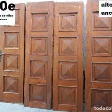 Antigüedades: PUERTAS MADERA MACIZA. Lote 126098399