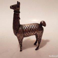 Antigüedades: ANTIGUA FIGURA DE ANIMAL EN PLATA 850 CONTRASTE . Lote 126100539