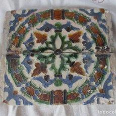 Antigüedades: PAREJA 5 SIGLO XVI AZULEJOS DE TABLA. Lote 126102927