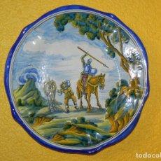 Antigüedades: ** PRECIOSO PLATO DE CERÁMICA NIVEIRO TALAVERA 30 CMS **. Lote 126937011