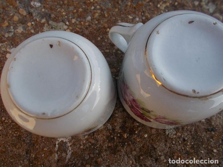 Antigüedades: JUEGO DE SEIS TAZAS DE CAFE CON SUS PLATOS ( PICKMAN - SEVILLA ) - Foto 6 - 34148048