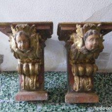 Antigüedades: PAREJA DE MENSULAS SIGLO XVI-XVII. Lote 126200095