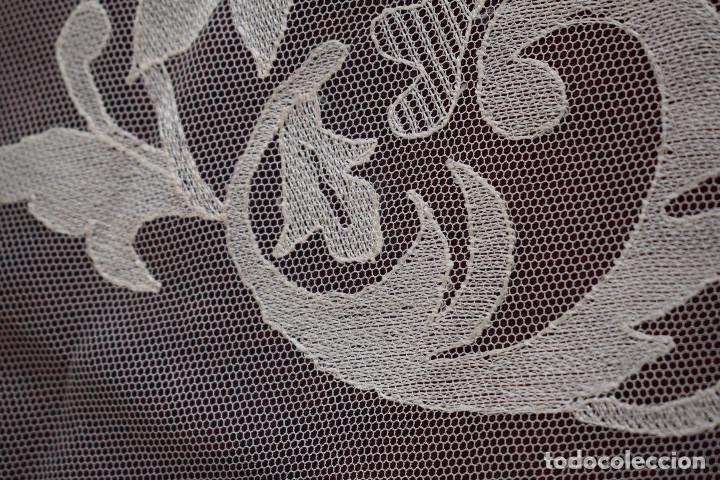 Antigüedades: Mantilla blanca antigua 180 x 55 cm - Foto 7 - 126208347