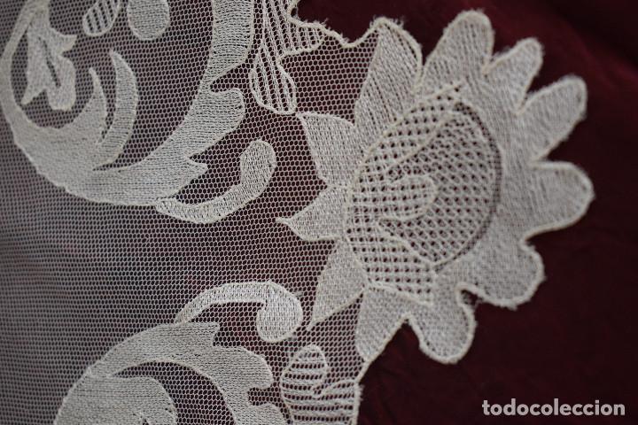 Antigüedades: Mantilla blanca antigua 180 x 55 cm - Foto 9 - 126208347