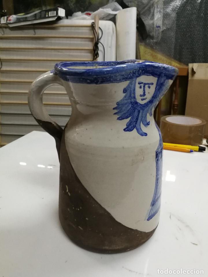 Antigüedades: ANTIGUA JARRA DE MUEL SELLADA PINTADA A MANO - Foto 2 - 126241107