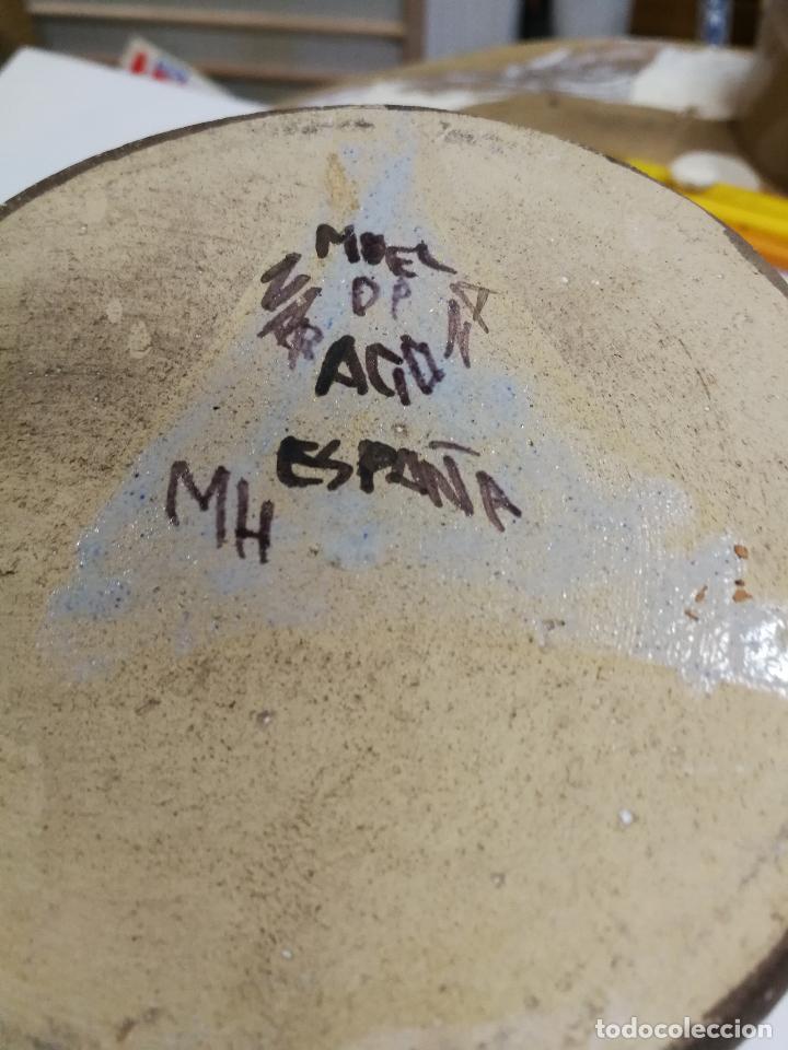 Antigüedades: ANTIGUA JARRA DE MUEL SELLADA PINTADA A MANO - Foto 6 - 126241107