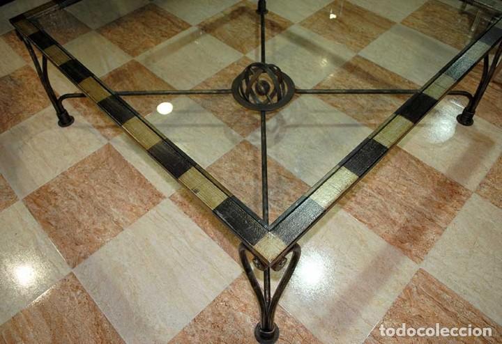 Antigua mesa de centro forja art stica comprar mesas for Mesas de centro antiguas