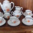 Antigüedades: ANTIGUO JUEGO DE CAFE DE PORCELANA SANTA CLARA.. Lote 126245107