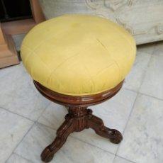 Antigüedades: BANQUETA DE PIANO SIGLO XIX. Lote 126254748