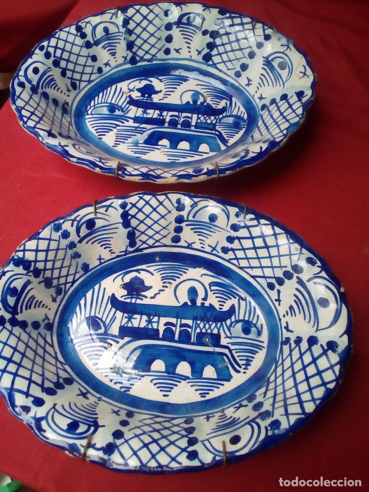 2 PLATO BANDEJA FUENTE COMPAÑIA DE INDIAS ?????? (Antigüedades - Porcelanas y Cerámicas - China)