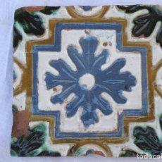 Antigüedades: AZULEJO ANTIGUO DE TOLEDO - ARISTA - RENACIMIENTO - SIGLO XVI. / 3. Lote 126286367