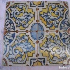 Antigüedades: LOTE DE 4 AZULEJOS ANTIGUOS DE TALAVERA / TOLEDO /. CERAMICA RUIZ DE LUNA. 1. Lote 126288675