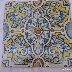Antigüedades: LOTE DE 4 AZULEJOS ANTIGUOS DE TALAVERA / TOLEDO /.CERAMISTA RUIZ DE LUNA.. Lote 126289351