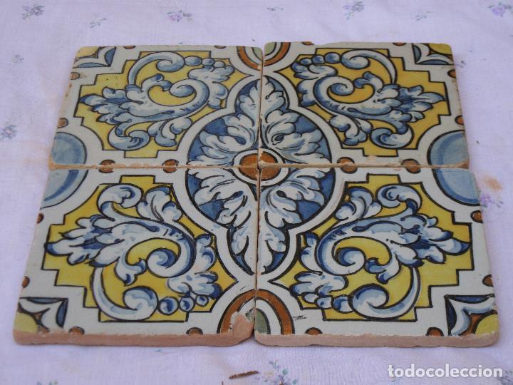 Antigüedades: LOTE DE 4 AZULEJOS ANTIGUOS DE TALAVERA / TOLEDO /.CERAMISTA RUIZ DE LUNA. - Foto 5 - 126289351