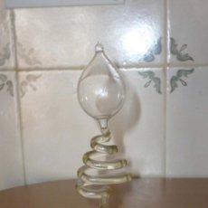 Antigüedades: ANTIGUO TERMÓMETRO DE CRISTAL SOPLADO EN ESPIRAL. 19CM.. Lote 142830433