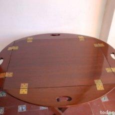 Antigüedades: MESA DE CAOBA TIPO BARCO. Lote 126315324