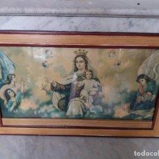 Antigüedades: CUADRO VIRGEN LAMINADO. Lote 126316963