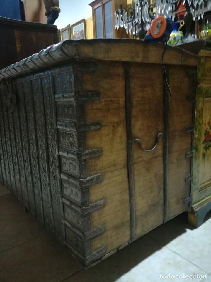 Antigüedades: ARCON INDIO PARA CEREALES, SIGLO XVIII - Foto 6 - 104680619