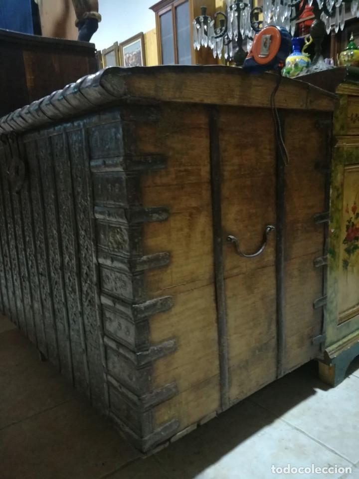 Antigüedades: ARCON INDIO PARA CEREALES, SIGLO XVIII - Foto 7 - 104680619