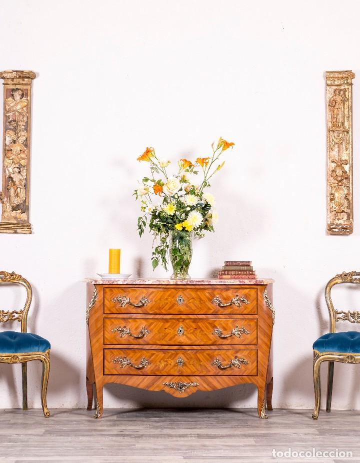 CÓMODA ANTIGUA FRANCESA LUIS XV (Antigüedades - Muebles - Cómodas Antiguas)