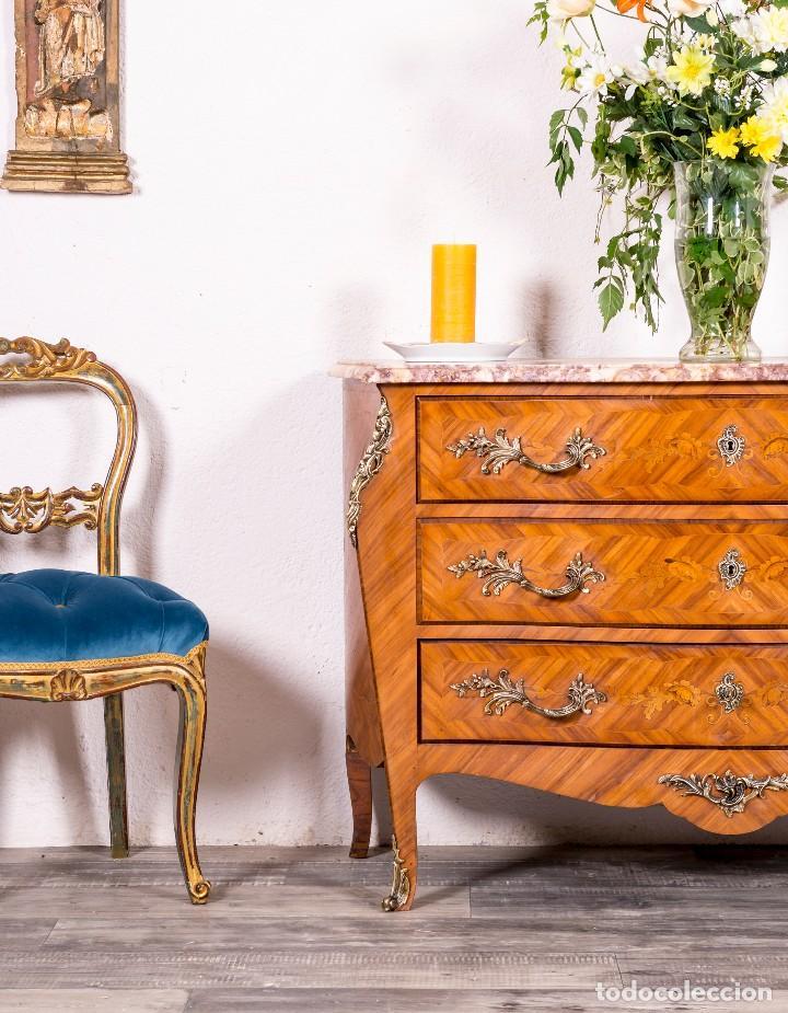Antigüedades: Cómoda Antigua Francesa Luis XV - Foto 2 - 126353895