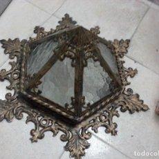 Antigüedades: LOTE 2 ANTIGUAS LAMPARAS DE TECHO. Lote 126355171