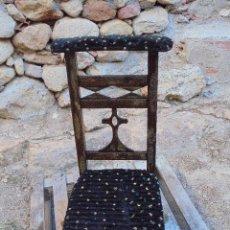 Antigüedades: ANTIGUO RECLINATORIO ESTILO RURAL (A JUEGO CON OTRO). Lote 126358015