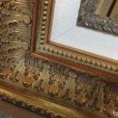 Antigüedades: EXCEPCIONAL MARCO MOLDURA DORADA. PARA OBRA 41X27. CON COMPLEMENTO INTERIOR. A ESTRENAR.. Lote 121173612