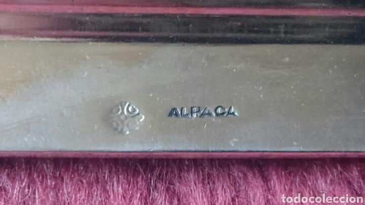 Antigüedades: Bandeja de Alpaca - Foto 4 - 126425052