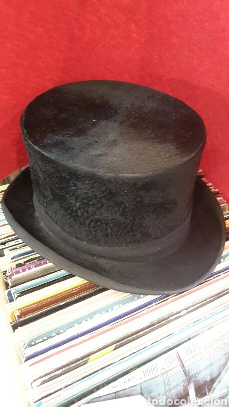 SOMBRERO DE COPA - CHISTERA 1950'S TUSELL CAMPRODÓN. (Antigüedades - Moda - Sombreros Antiguos)