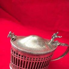 Antigüedades: AZUCARERO DE PLATA MODERNISTA. Lote 126441083