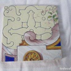 Antigüedades: AZULEJO PICKMAN LA CARTUJA 4. Lote 126442519