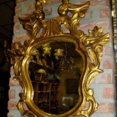 Antigüedades: CORNUCOPIA DE MADERA ANTIGUA CON PAN DE ORO. Lote 126446375