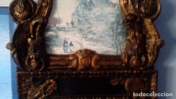 Antigüedades: CORNOCOPIA ANTIGUA DE MADERA HECHA A MANO MIDE 110 CMS X 40 CMS - Foto 4 - 126478251