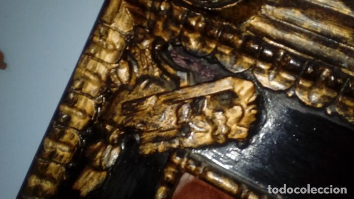 Antigüedades: CORNOCOPIA ANTIGUA DE MADERA HECHA A MANO MIDE 110 CMS X 40 CMS - Foto 5 - 126478251