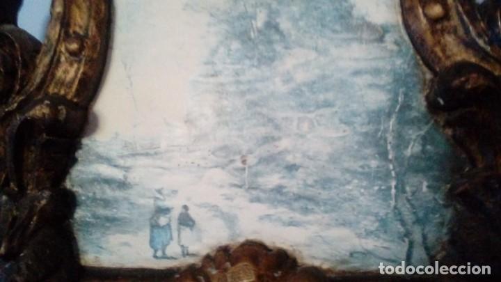 Antigüedades: CORNOCOPIA ANTIGUA DE MADERA HECHA A MANO MIDE 110 CMS X 40 CMS - Foto 7 - 126478251