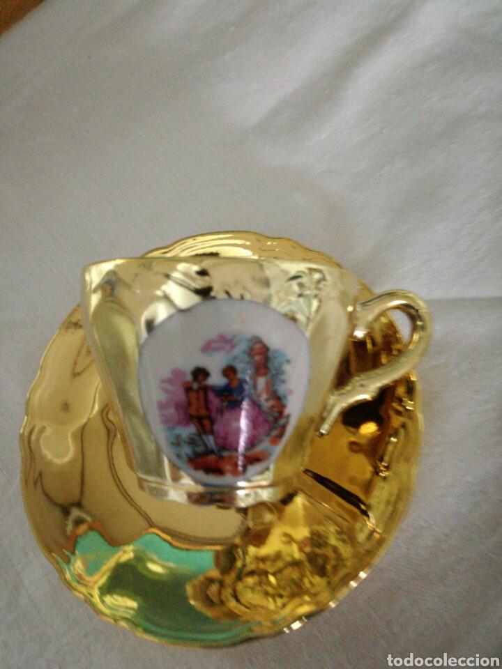 Antigüedades: Taza dorada - Foto 2 - 126457762
