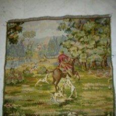 Antigüedades: TAPIZ CON ESCENA DE CAZA.. Lote 126485302