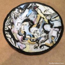 Antigüedades: PLATO COLLAGE DE AUTOR, FIRMADO EN EL REVERSO. Lote 126503619