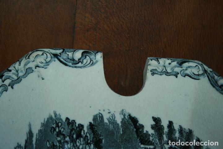 Antigüedades: Sopera de Cartagena, lanceo de toros, marca de las manos y sello. 18x30x20, falta el asa. ver fotos - Foto 2 - 126509391