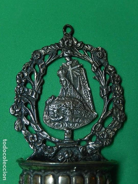 Antigüedades: Pequeña benditera de plata. Principios del siglo XX. - Foto 3 - 126512243