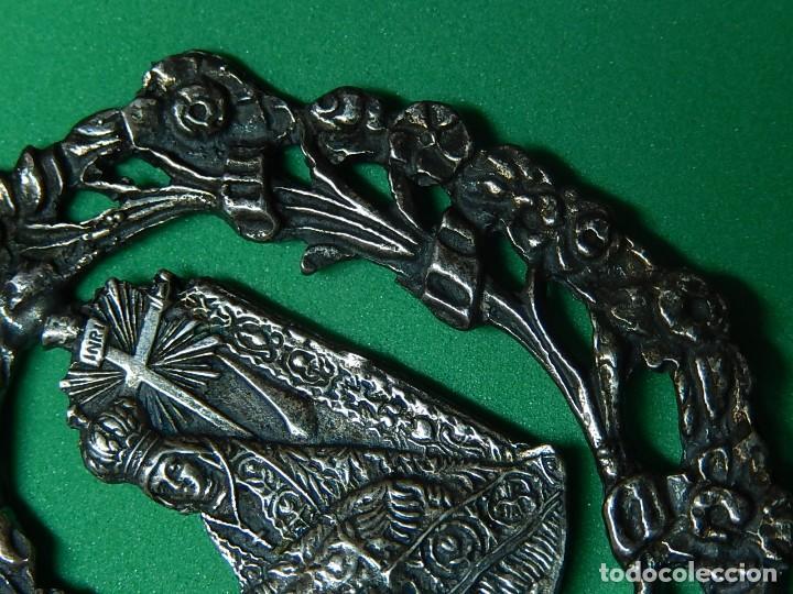 Antigüedades: Pequeña benditera de plata. Principios del siglo XX. - Foto 7 - 126512243
