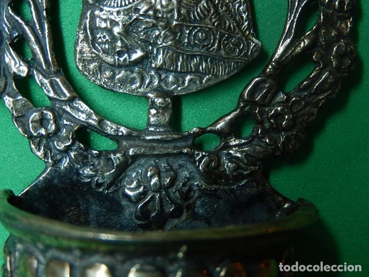 Antigüedades: Pequeña benditera de plata. Principios del siglo XX. - Foto 9 - 126512243