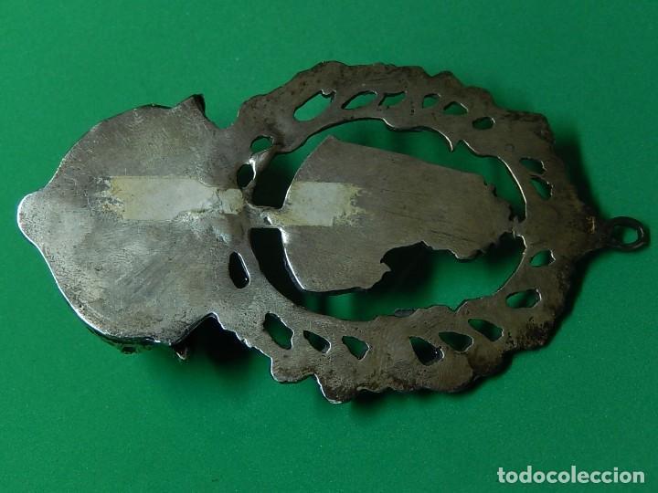 Antigüedades: Pequeña benditera de plata. Principios del siglo XX. - Foto 12 - 126512243