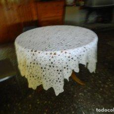 Antigüedades: ANTIGUO TAPETE O COLCHA DE GANCHILLO. Lote 126545835