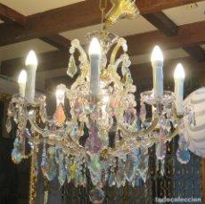 Antigüedades: PRECIOSA LAMPARA DE CRISTAL. ESTILO MARIA THERESA. COMPLETA. SIGUIENDO MODELOS SIGLO XVIII. Lote 126585959