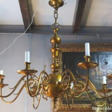 Antigüedades: MAGNIFICA LAMPARA HOLANDESA. SIGLO XIX. Lote 126586975
