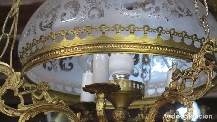 Antigüedades: BONITA LAMPARA ESTILO QUINQUE. AÑOS 40 - Foto 3 - 126587879