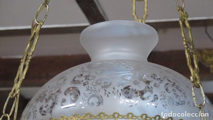 Antigüedades: BONITA LAMPARA ESTILO QUINQUE. AÑOS 40 - Foto 4 - 126587879